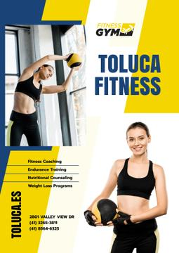Gym Promotion with Woman with Gym Equipment