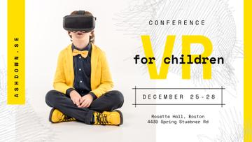 Tech Conference Kid in VR Glasses