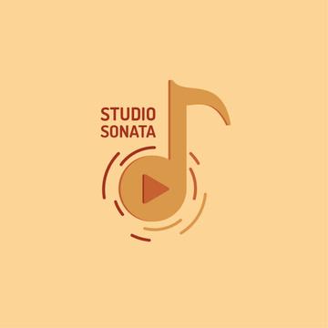 Music Studio Ad with Note Symbol