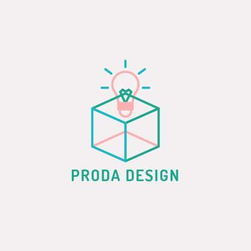 Design Studio Ad with Bulb in Box
