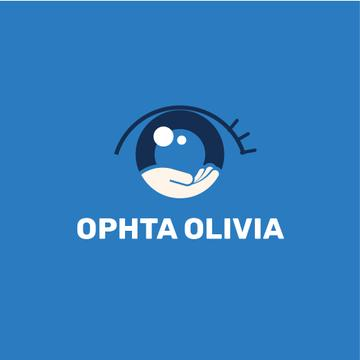 Ophthalmology Clinic with Eye Icon in Blue