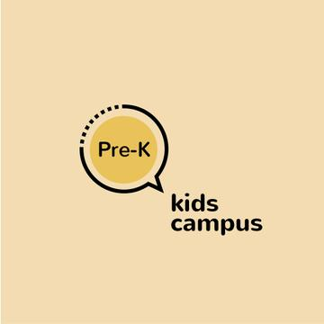 Kids Campus Ad with Speech Bubble Icon
