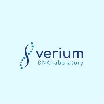 Test Laboratory Ad with DNA Molecule Icon