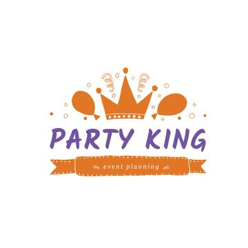 Event Agency with Balloons and Confetti in Orange