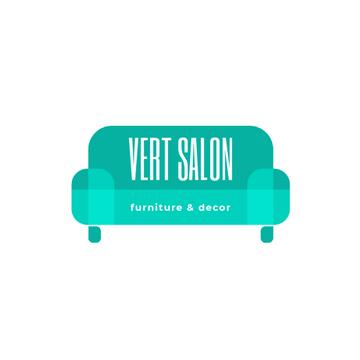 Furniture Salon Ad with Blue Sofa
