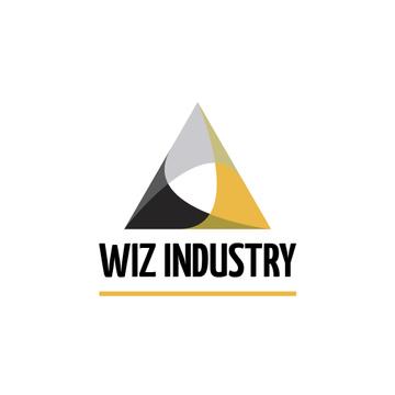 Industrial Company Logo Triangle Icon