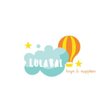 Kids' Supplies Ad with Hot Air Balloon and Cloud