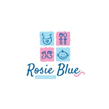 Kids' Products Ad in Blue and Pink