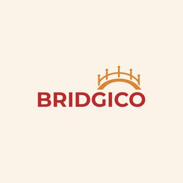 Elegant Bridge Icon in Yellow