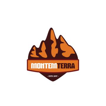 Travelling Tour Ad with Mountains Icon