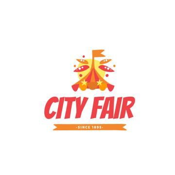 City Fair with Circus Tent in Red