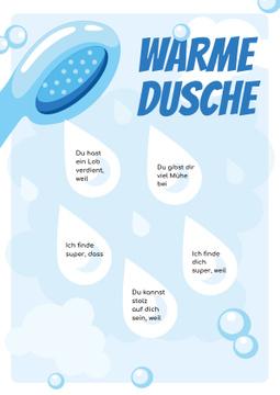 Warm Shower Water Drops