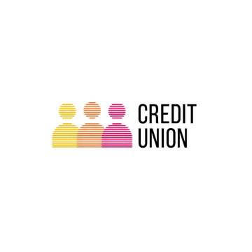 Credit Company with People Silhouettes Icon