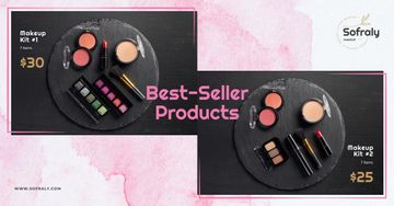 Cosmetics Ad Makeup Products Set