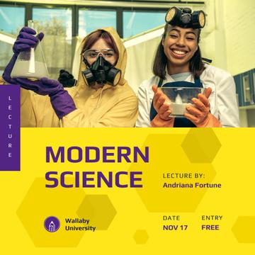 Scientific Event Women in Protective Masks
