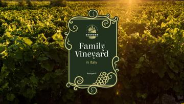 Vineyard Invitation with Scenic Field View