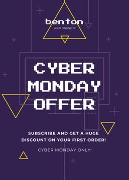 Cyber Monday Sale Digital Pattern in Purple