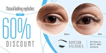 Eyelash Extensions Offer in Blue