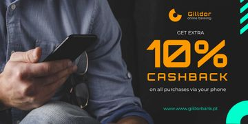 Cashback Services Ad with Man in Blue Shirt
