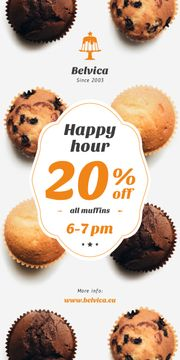 Happy Hour Sale Variety of Muffins