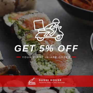 Sushi Delivery with Fresh Seafood Maki