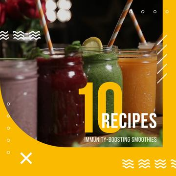 Healthy Drinks Recipes Jars with Smoothies