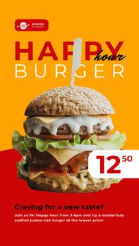 Happy Hour Offer Mouthwatering Burger