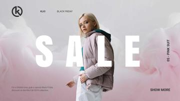 Black Friday Sale Girl in Stylish Outfit