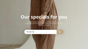 Fashion Sale Woman Wearing Dress in Brown