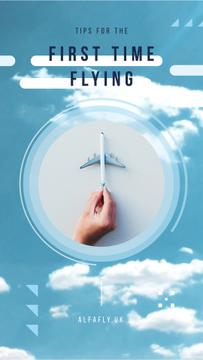 Flying Tips Hand with Toy Plane