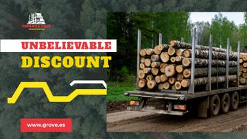Transportation Services Offer Truck Delivering Logs