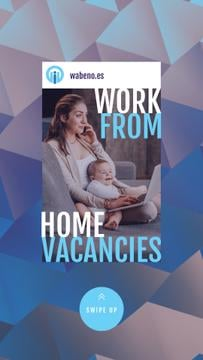 Freelancer Mother Working at Home with Baby
