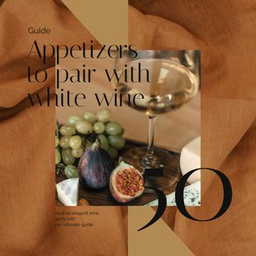 Winery Offer with White Wine with Fruits