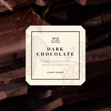 Sweet Dark Chocolate Pieces