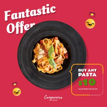 Restaurant Promotion with Italian Pasta Dish