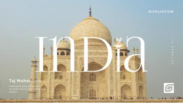 Travelling Tour Ad Taj Mahal Building