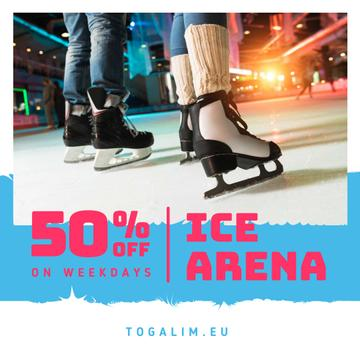 Ice Arena Offer People Skating