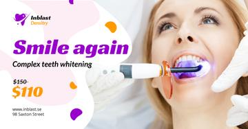 Dentistry Promotion Woman at Whitening Procedure