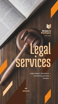 Legal Services Ad Wooden Gavel