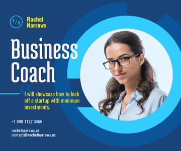 Business Coach Ad Confident Woman in Glasses