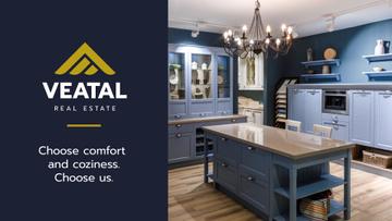 Kitchen Design Studio Ad with Modern Home Interior