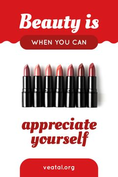 Beauty Quote Lipsticks in Red