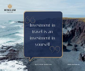 Travel Quote on Rocky Coast View