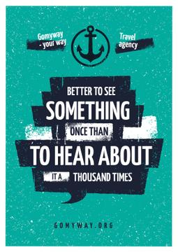 Travel Quote with Anchor Icon