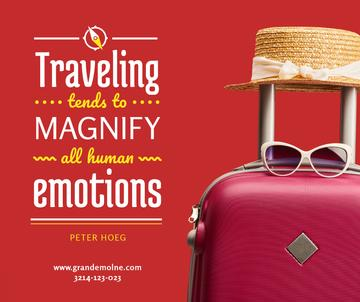 Travelling Inspiration Suitcase and Hat in Red