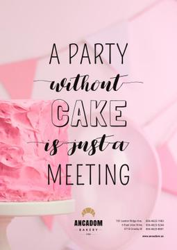 Party Organization Services with Cake in Pink