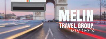Tour Invitation with Paris Arc de Triomphe