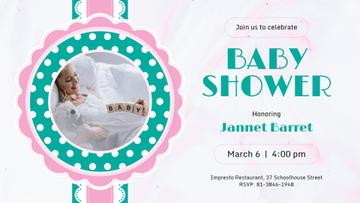 Baby Shower invitation with Happy Pregnant Woman