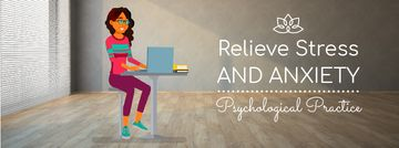 Psychological Practice Guide Stressed Woman with Laptop