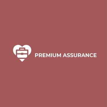 Assurance Business Ad with Briefcase in Heart